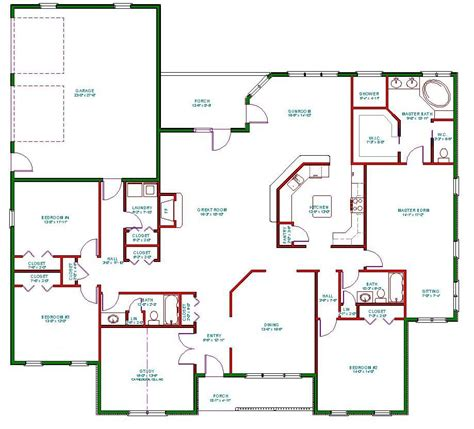 1 luxury house plans single open floor plans plan single level one