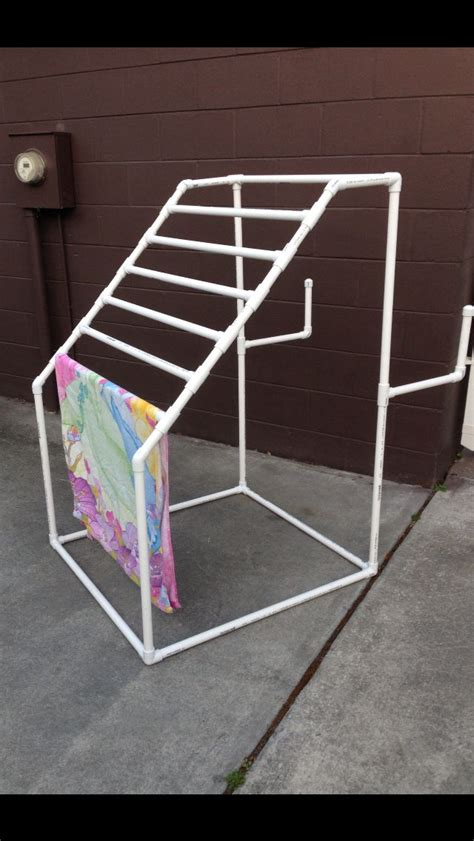 pvc towel rack how to make a pvc quilt rack woodworking projects plans