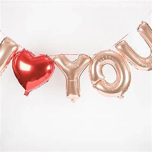 pack of air filled letter foil balloons i love you With air filled letter balloons
