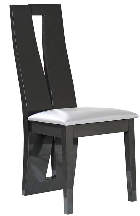 chaise bois grise et blanche quartz lestendances fr