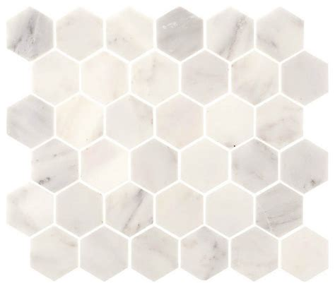 aspen white marble 2 quot hexagon tile backsplash bathroom