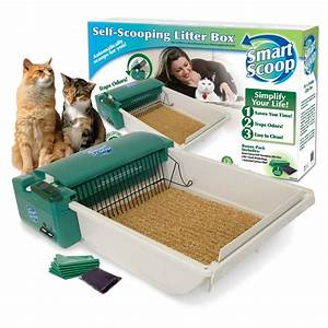 Smartscoop basic green self scooping cat litter box petco for Dog litter box petco