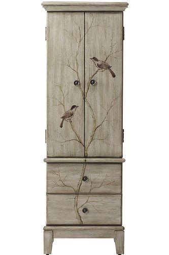chirp jewelry armoire hxwxd pewter