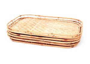 glass deviled egg platter set of 5 vintage bamboo wicker trays by pickedhome on etsy