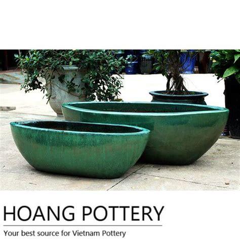 glazed ceramic planters oval glazed ceramic flower pots outdoor hpdb022 hoang