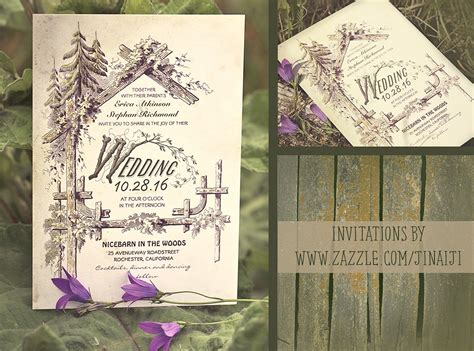 Barn Wedding Invitations : Look At These Rustic Vintage Or