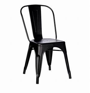 Chaise Industrielle Metal : chaise industrielle noire m tal esprit d 39 autrefois 78583 magasin de meubles deco orl ans ~ Teatrodelosmanantiales.com Idées de Décoration