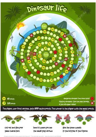 dinosaur life board game printable template