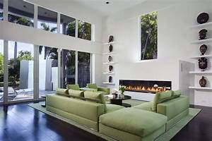 green sofa contemporary living room miami by toby With contemporary green living room design ideas