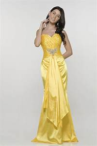 elegant yellow mermaid wedding dresses cherry marry With yellow evening gowns wedding