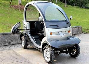 720mm Wheel Base Mini Electric Car 60v 1000w Manual Brake