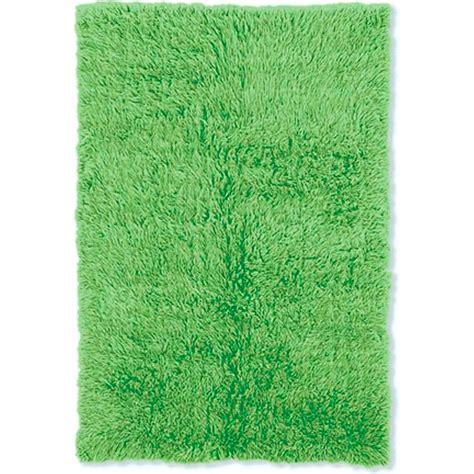 linon home decor  flokati lime green  ft   ft
