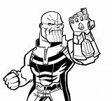 Thanos Drawing Glove Coloring Fortnite Avengers Marvel Without Behance Hat Clipartmag sketch template