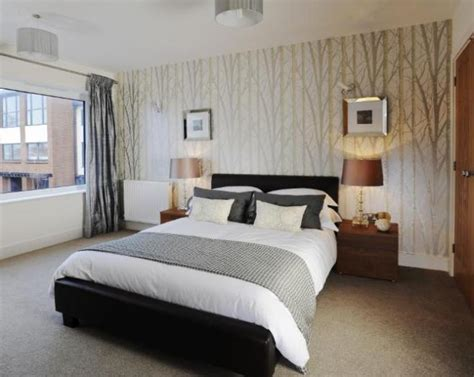 bedroom wallpaper feature wall 34 designs enhancedhomes org