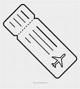 Ticket Coloring Plane Template sketch template