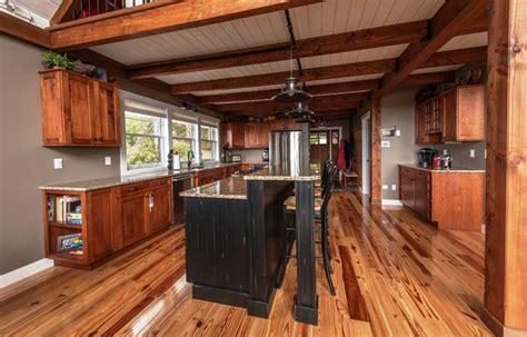 moose ridge lodge post  beam rustic kitchen