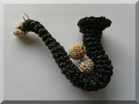 crochet saxophone jewelry pattern unusual miniature