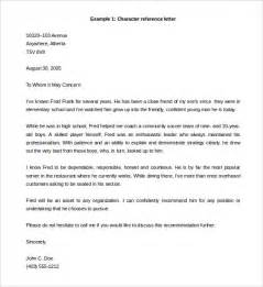 Reference Letter Format Template