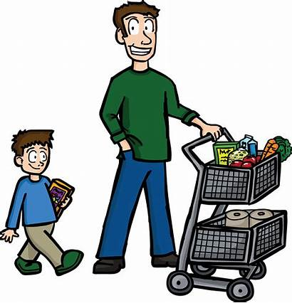 Clipart Buying Shopping Transparent Father Dad Clip