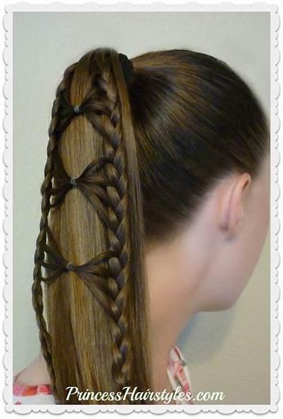 Ponytail Braid Hair Bow Tutorial Tie Hairstyles