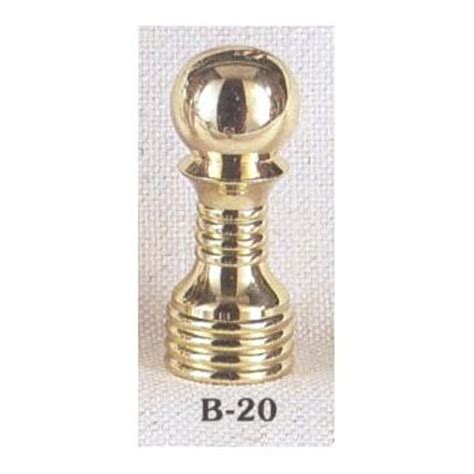 solid brass l finial finials accessories brown