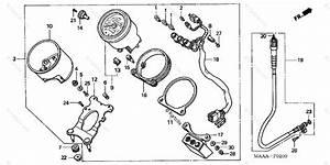 Honda Motorcycle 2006 Oem Parts Diagram For Speedometer