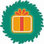 Christmas Icon Gift Wreath Xmas Icons Simple