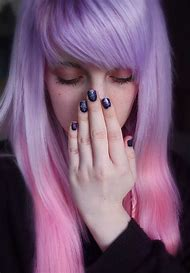 Lavender and Pastel Pink Ombre Hair
