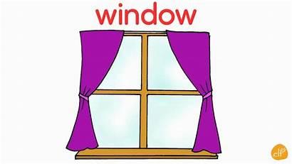 Window Clipart Furniture Flashcards Door Vocabulary English