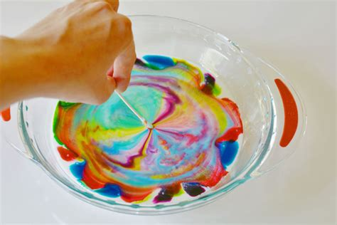 milk and food coloring science project color changing milk experiment and