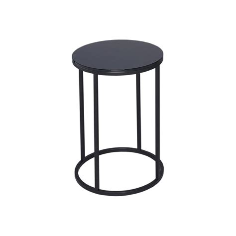 black metal end table buy black glass and black metal circular side table from