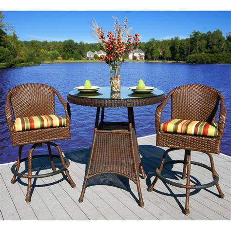 resin wicker bistro sets