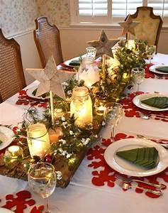 Table De Noel Traditionnelle : tischdeko zu weihnachten 53 ideen f r eine tolle stimmung ~ Melissatoandfro.com Idées de Décoration