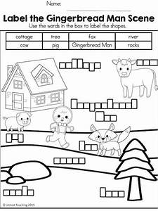 gingerbread no prep activities math and language arts With gingerbread man story map template