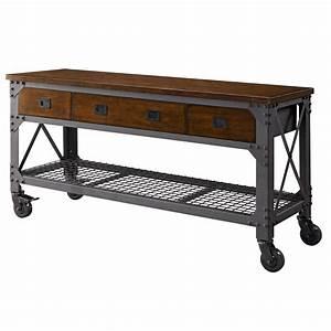 "Whalen 72"" Metal and Wood Workbench Home Furniture New eBay"