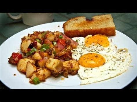 classic breakfast perfect eggs potato hash recipe