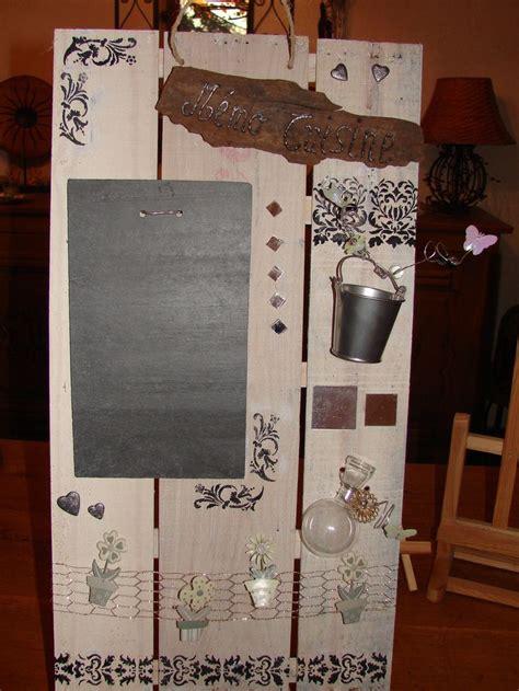 tableau ardoise deco cuisine tableau mémo de cuisine en matériaux recyclés bois et ardoise cuisine and decoration