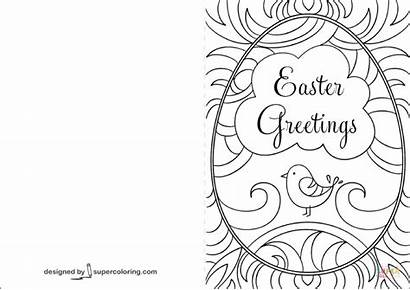 Easter Coloring Printable Cards Card Pages Greetings