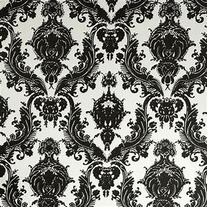 Tempaper Damsel Wallpaper Black and White by Couture Deco