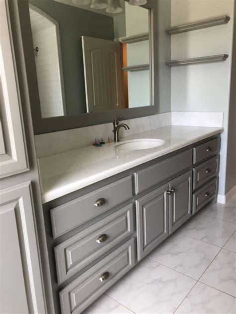sherwin williams dorian grey cabinets sw sea salt walls