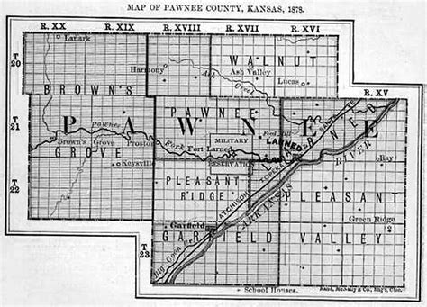towns  places  pawnee county kansas history