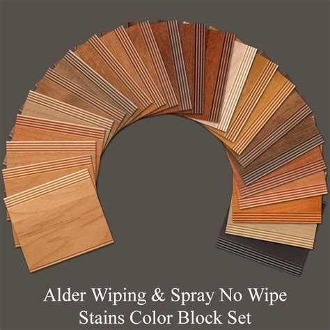 alder wood cabinet doors alder wiping snw stains color block set walzcraftwalzcraft