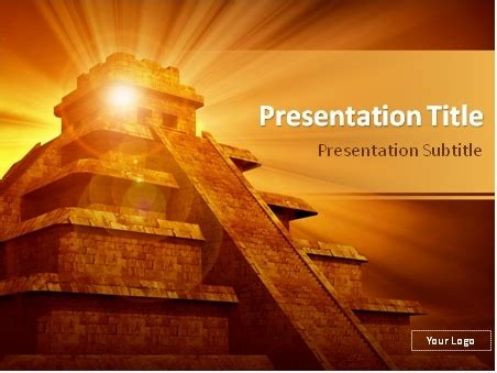 mexican themed powerpoint template mayan pyramid powerpoint template