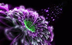 Abstract Purple Flower 3D Wallpapers - New HD Wallpapers