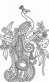 Peacock Coloring Pages Abstract Drawing Printable Peacocks Simple Adults Step Adult Cool Tree Illustration Green Colouring Animal Mandala Sheets Sheet sketch template