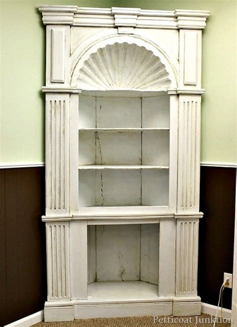 Antique White Corner Bookcase by White Antiqued Cabinet How To Antique Painted Furniture