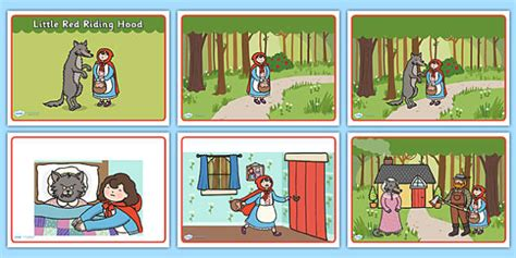 Little Red Riding Hood Story Sequencing