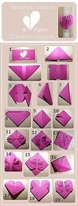 Origami Fleur Coeur D étoile : les 25 meilleures id es de la cat gorie c urs en origami ~ Melissatoandfro.com Idées de Décoration