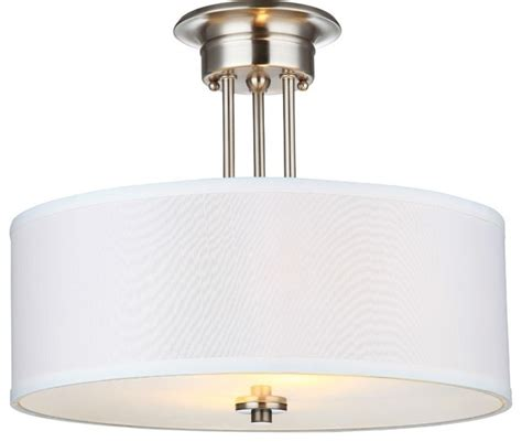 hardware house semi mount ceiling fixture satin
