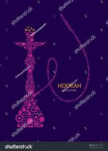 Hookah Bar Menu Cover Nargila Arabic Stock Vector ...